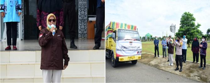 Wabub Lepas Pendistribusian Bansos Di Tiga Kecamatan
