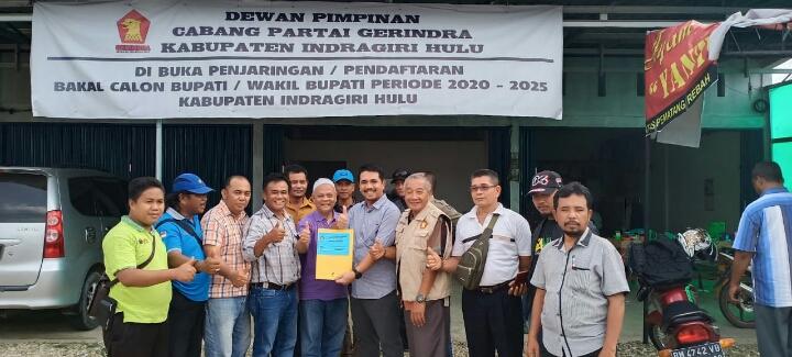 Daftar Ke Partai Gerindra, Wakil Bupati Aktif H Khairizal Kembali Maju Bertarung di Pilbup 2020