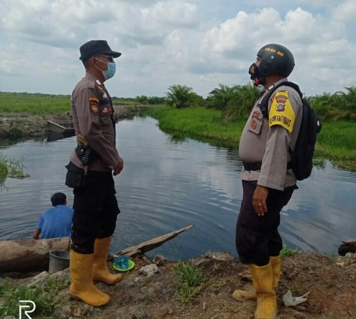Giat Patroli Karhutla Polsek Panipahan di Kepenghuluan Sungai Daun