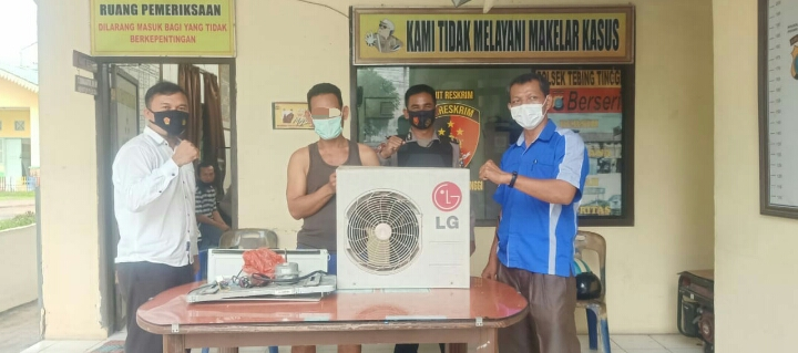 Curi Mesin Blower AC, Pria Pekerja Bangunan Ditangkap Polsek Tebingtinggi