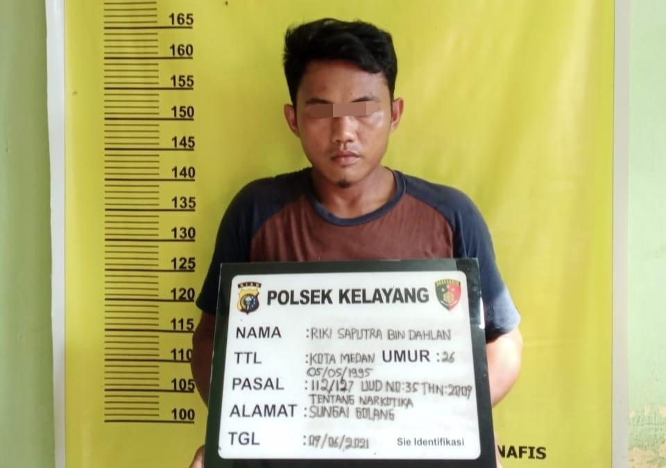 Polisi Tangkap Pemuda Kelayang Bawa Sabu Seharga 400 Ribu