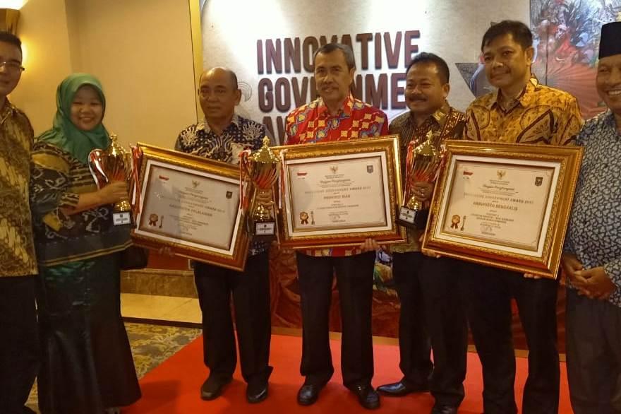 Kabupaten Bengkalis Terima Innovative Goverment Award 2019 dari Kemendagri
