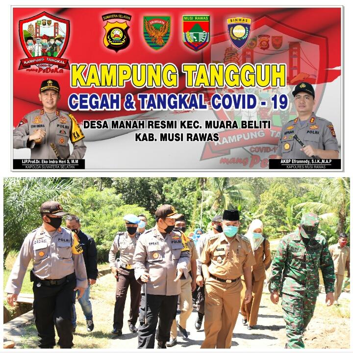 Kapolres Mura Launching Kampung Tangguh Di Kecamatan Mana Resmi