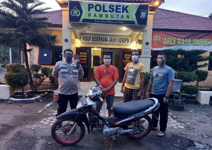 Kapolsek Rambutan Pimpin Penangkapan Pelaku Penggelapan Sepeda Motor