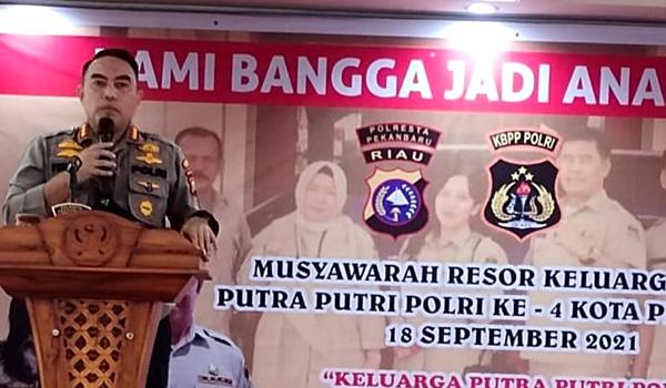 Kapolresta Pria Budi Buka Musres KBPP Kota Pekanbaru Ke-4