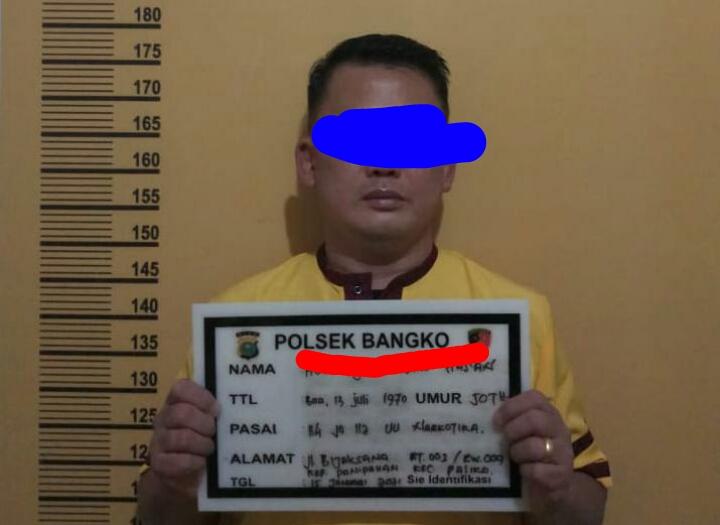 Diduga Penyalahgunaan Narkoba, Seorang Pria Diamankan Polsek Bangko