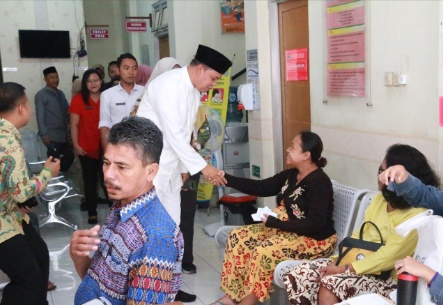 Wawako Bekasi Sambangi Puskesmas Margajaya