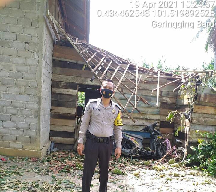 Tiga Rumah Rusak Akibat Hujan dan Angin Kencang di Kuansing