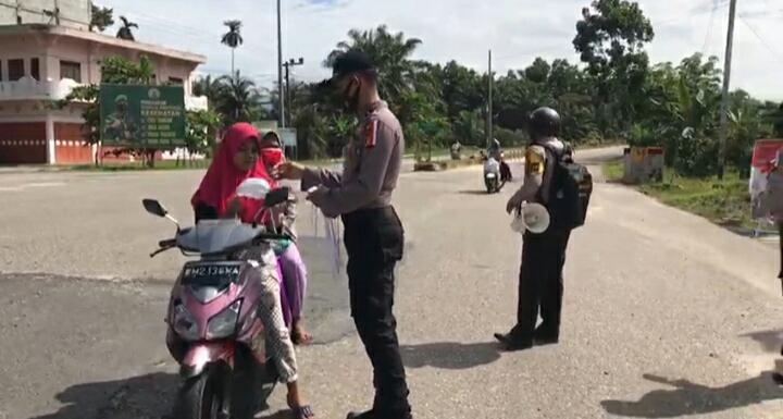 Polsek TPTM Bersama Upika Kecamatan TPTM Gelar Operasi Yustisi