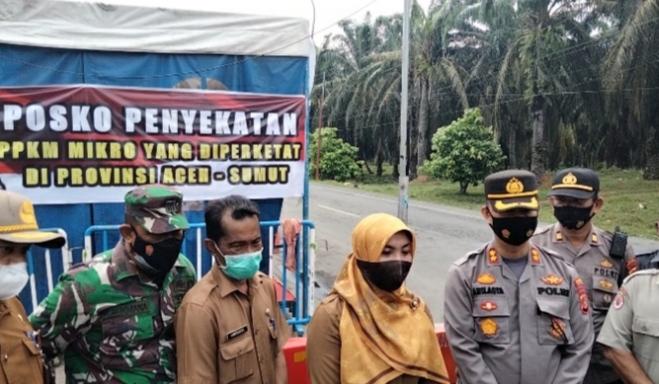 Terkait PPKM, Pos Batas Aceh-Sumut Kembali Diperketat