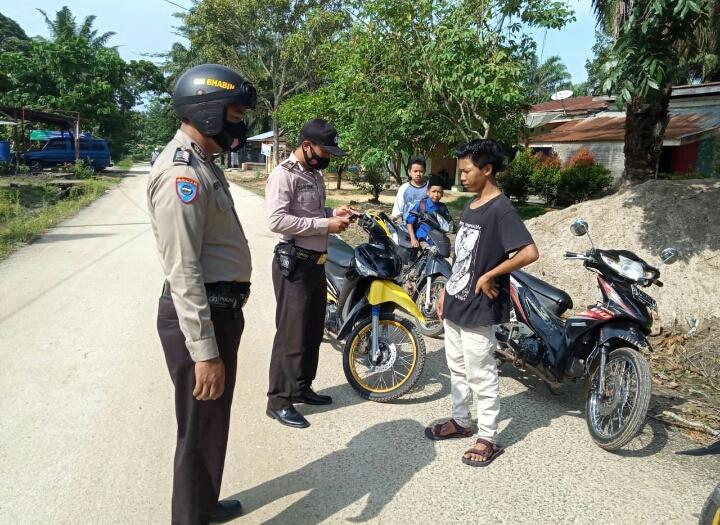 Polsek Simpang Kanan Terus Laksanakan Operasi Yustisi