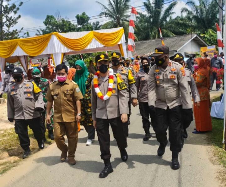 Waka Polda Aceh Tinjau Posko Kampung Tangguh Desa Purwodadi Aceh Tamiang