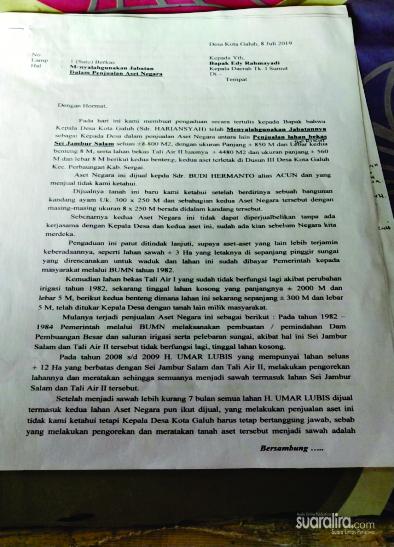 Polres Sergai Terbitkan SKPP, Ravid Ziwar Lapor ke Gubernur Sumut
