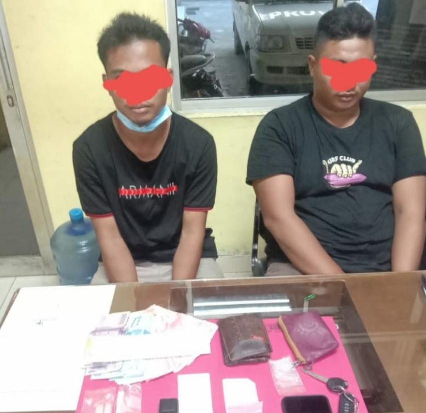 Satuan Resnarkoba Polres Kuansing Mengungkap Kasus TP Narkoba Jenis Shabu