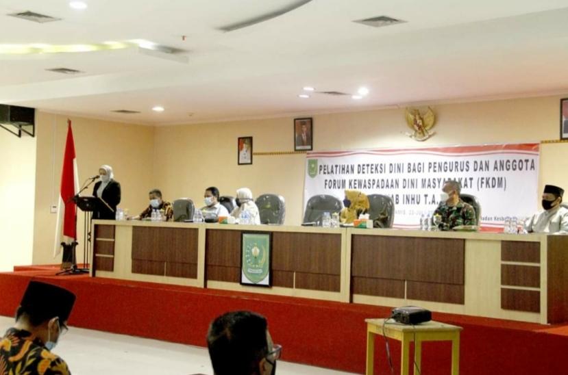 Bupati Buka Pelatihan Deteksi Dini Bagi Pengurus & Anggota FKDM Se Kab Inhu TA 2021