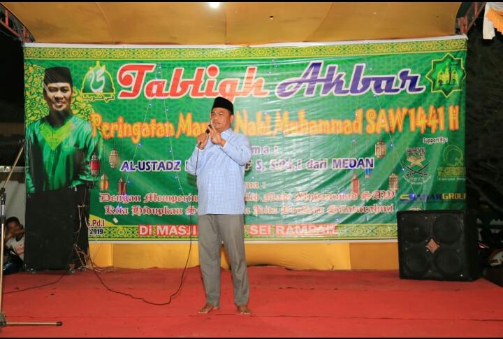 Wabub Sergai Hadiri Maulid Nabi Muhammad SAW 1441 H di Masjid Jami' Sei Rampah