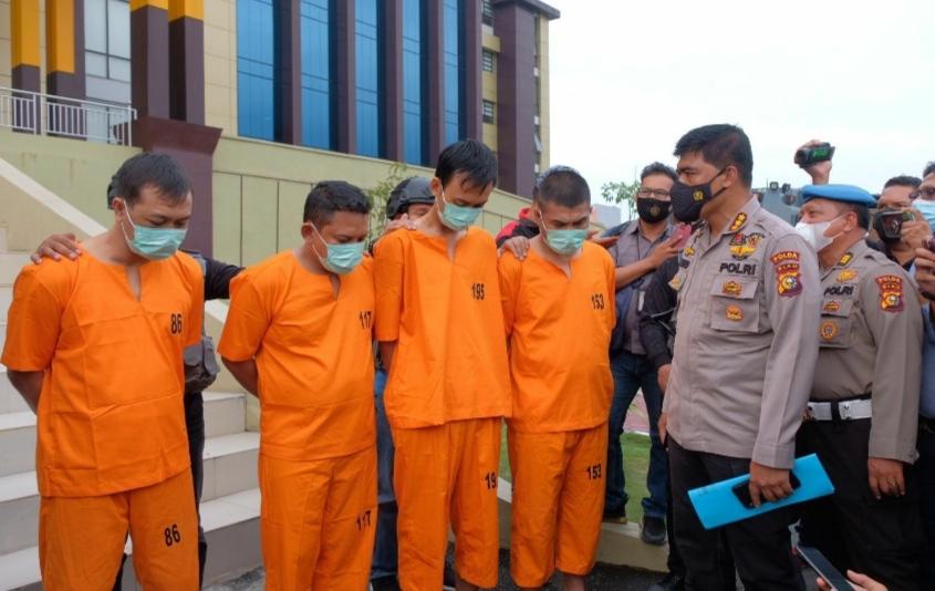Tim Gabungan Bekuk Kawanan Curas Yang Rampok Uang Rp 775 Juta di Mesin ATM di Rohul