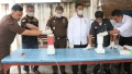 Kajari Aceh Tamiang, Pimpin Langsung Pemusnahan Barang Bukti Narkotika