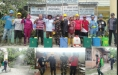 Kades Lidah Tanah Pimpin Penyemprotan Disinfektan Kerumah Penduduk
